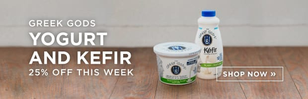 Save 25% on all Greek Gods Yogurt and Kefir this week at SPUD.ca