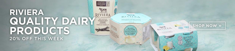 Introducing Riviera Dairy at SPUD.ca - Save 20% this week!