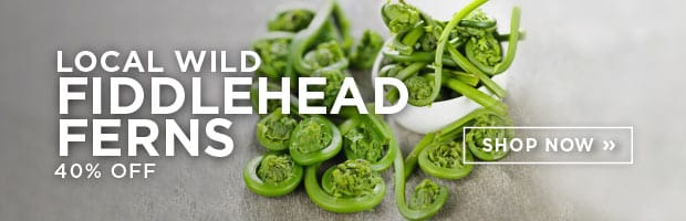 Hurry - Short Growing Season!! Save on Local Wildcrafted Fiddlehead Ferns this week at SPUD.ca