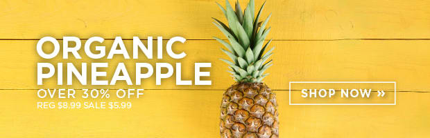 Save 33% on Organic Pineapple this week at SPUD.ca