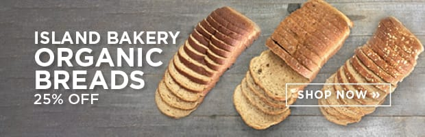 Save 25% on the top selling Island Bakery Organic Sliced Breads this week at SPUD.ca