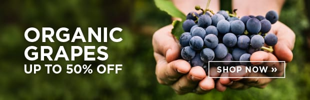 Save up to 50% on Organic Grapes - Fresh for the season, this week at SPUD.ca