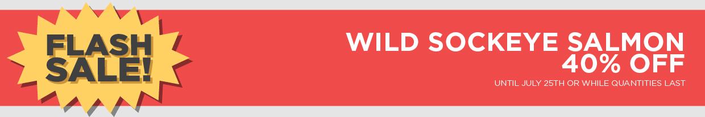 Wild Sockeye Salmon Over 40% Off