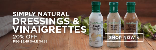 20% off Simply Natural Dressings & Vinaigrettes