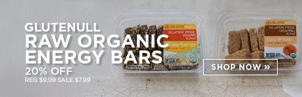 20% off Glutenull Raw Organic Energy Bars