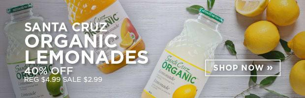 Santa Cruz Organic Lemonades 40% Off