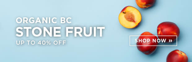 Organic BC Stone Fruit up to 40% Off