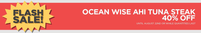 Ocean Wise Ahi Tuna Steak 40% Off
