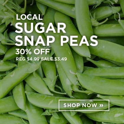 Local Sugar Snap Peas 30% Off