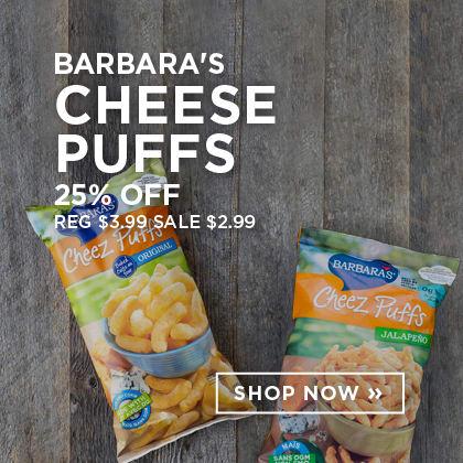 Barbara's Cheese Puffs 25% Off