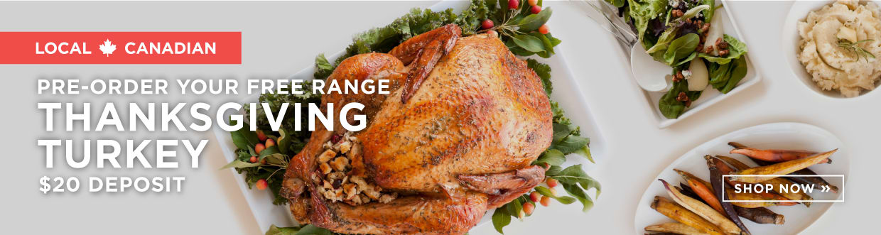 Pre-order Your Free Range Thanksgiving Turkey $20 Deposit