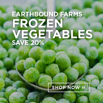 Earthebound Farms Frozen Vegetables Save 20%