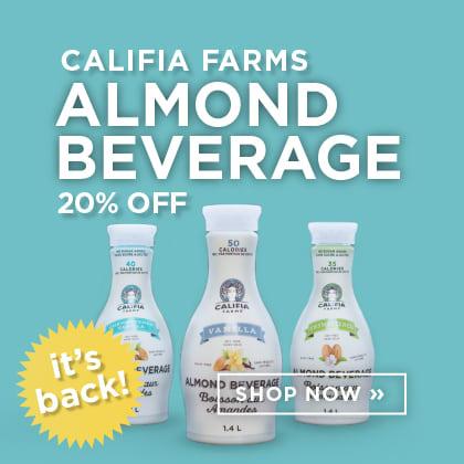 Califia Farms Almond Beverage 20% Off