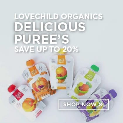 Love Child Organics Delicious Puree's Save up to 20%