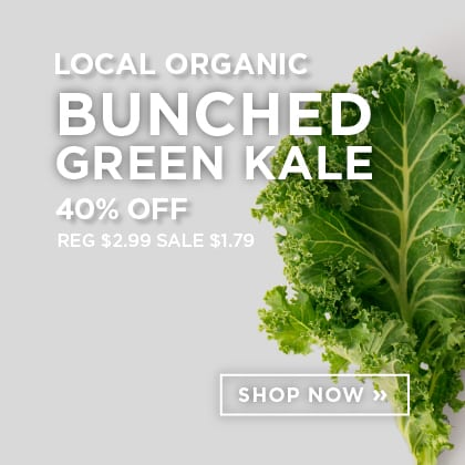 Local Organic Bunched Green Kale 40% Off