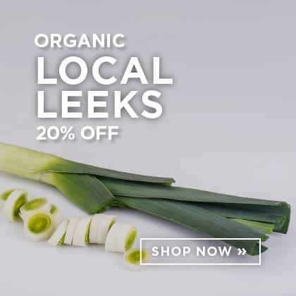 Organic Local Leeks 20% Off