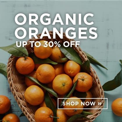 Organic Oranges up to 30% Off