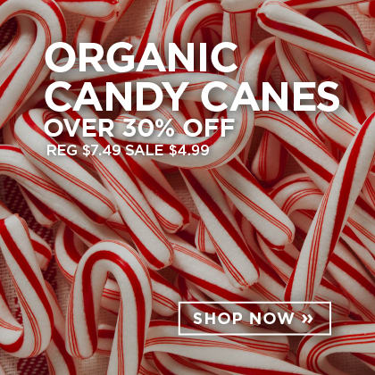 Organic Candy Canes over 30% Off