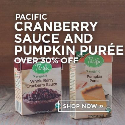 Pacific Cranberry Sauce and Pumpkin Puree over 30% Off