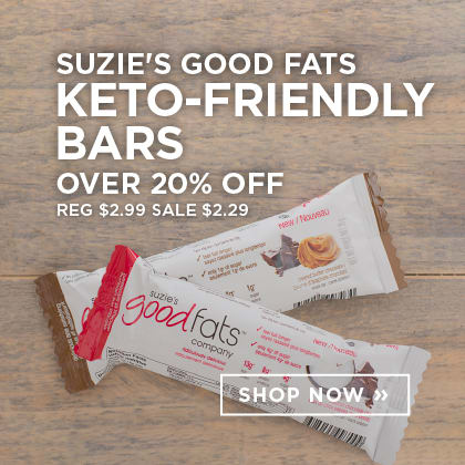 Suzie's Good Fats Keto-Friendly Bars over 20% Off