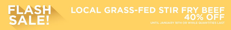 Local Grass-Fed Stir Fry Beef 40% Off