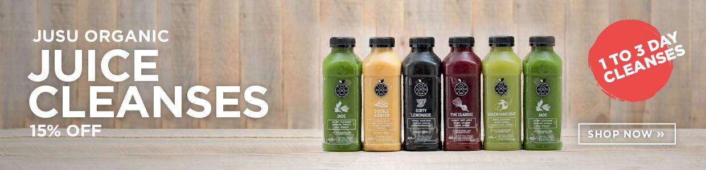 Jusu Organic Juice Cleanses 15% Off