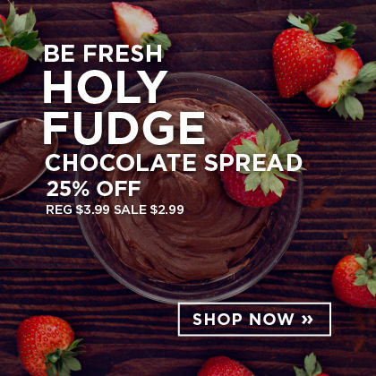 Be Fresh Holy Fudge Chocolate Spread 25% Off