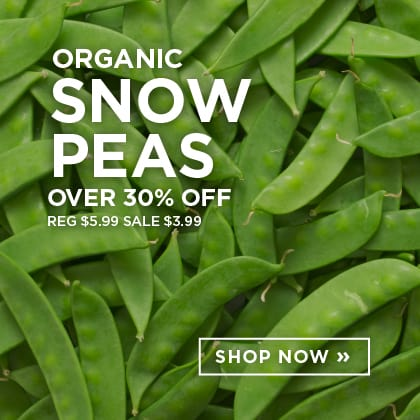 Organic Snow Peas over 30% Off