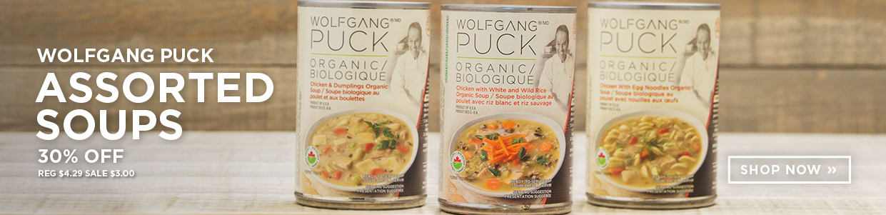 Wolfgang Puck Assorted Soups 30% Off