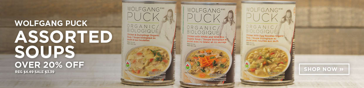 Wolfgang Puck Assorted Soups over 20% Off