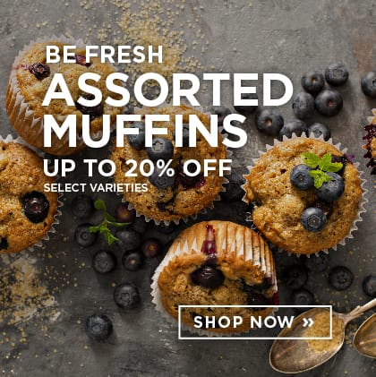 Be Fresh Assorted Muffins up to 20% Off