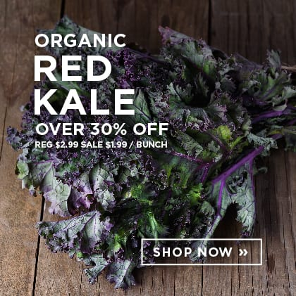 Organic Red Kale over 30% Off