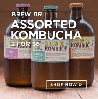 Brew Dr. Assorted Kombucha 2 for $6