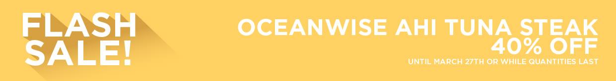 Oceanwise Ahi Tuna Steak 40% Off