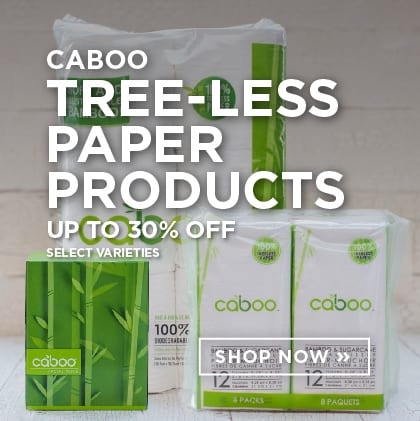 Caboo Tree-Less Paper Products up to 30% Off