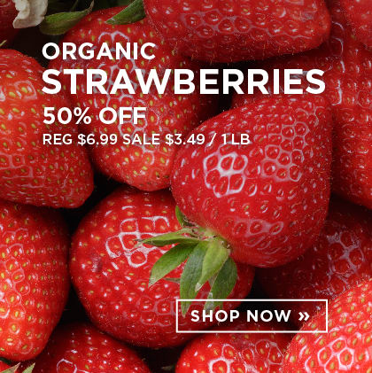 Organic Strawberries 50% Off