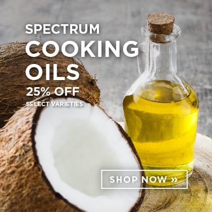 Spectrum Cooking Oils 25%Off