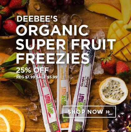 Deebee's - Organic Super Fruit Freezies 25% Off