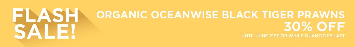 Organic Oceanwise Black Tiger Prawns 30% Off