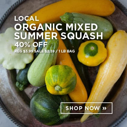 Local Organic Summer Squash 40% Off