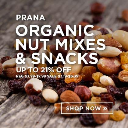 Prana - Organic Nut Mixes & Snacks up to 21% Off