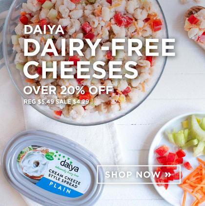 Daiya - Dairy-Free Cheeses over 20% Off