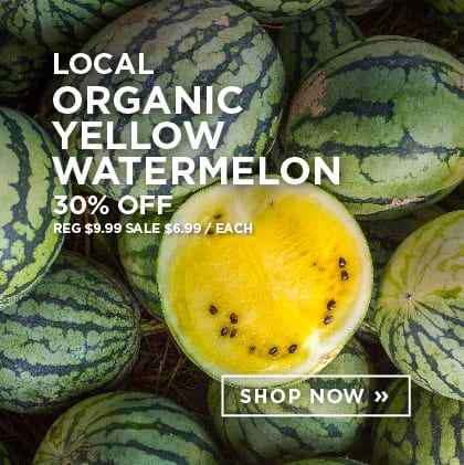 Local Organic Yellow Watermelon 30% Off
