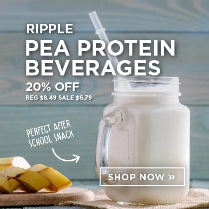 Ripple - Pea Protein Beverages 20% Off