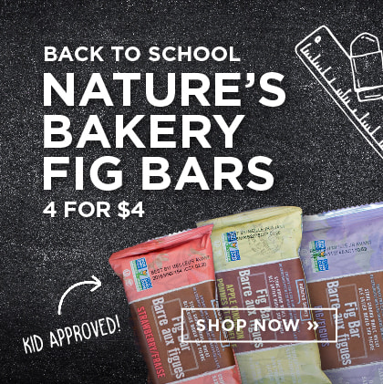 Back to School - Nature's Bakery Fig Bars - 4 for $4