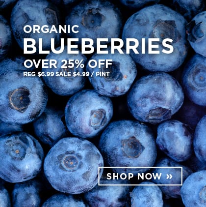 Organic Blueberries over 25% Off