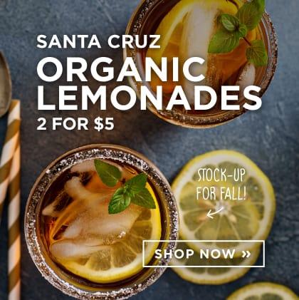Santa Cruz - ORganic Lemonades 2 for $5