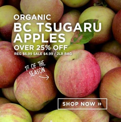 Organic BC Tsugaru Apples Over 25% Off