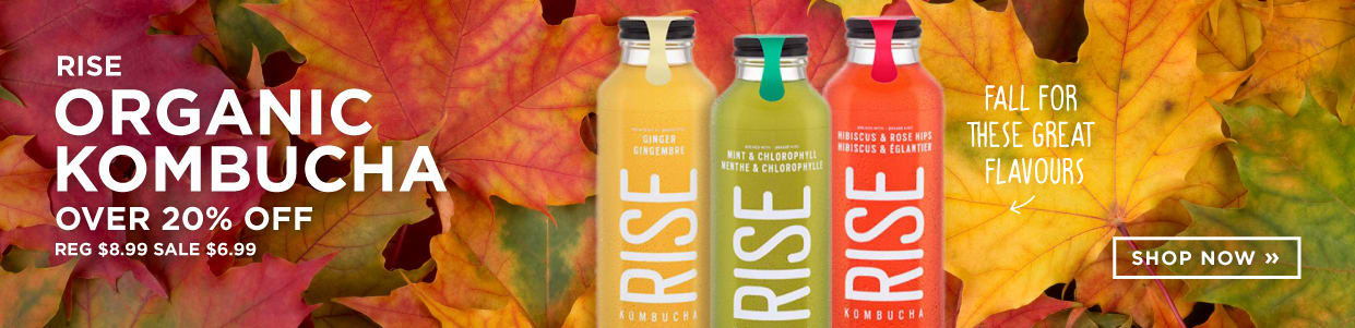Rise - Organic Kombucha Over 20% Off