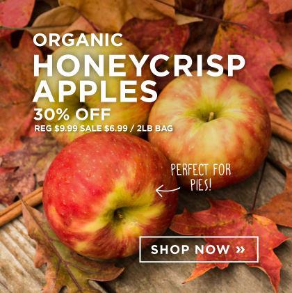 Organic Honeycrisp Apples 30% Off